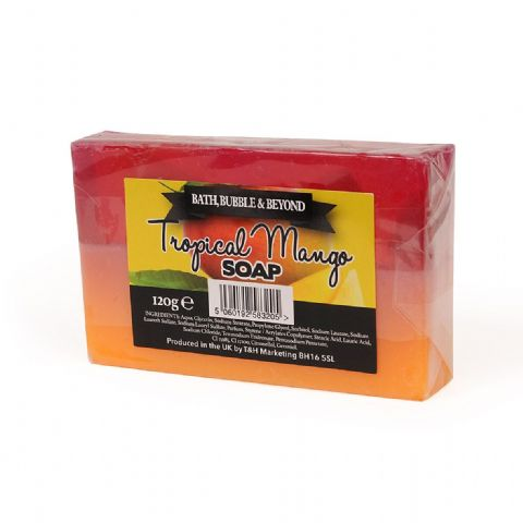 Tropical Mango Glycerin Soap Slice - Bath Bubble & Beyond 120g